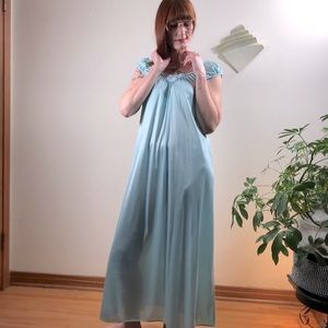 Vintage Baby Blue Maxi Nightgown